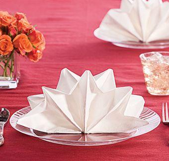 Quick And Easy Entertaining Party Ideas Folding Paper Napkinseasy Napkin Foldingwedding