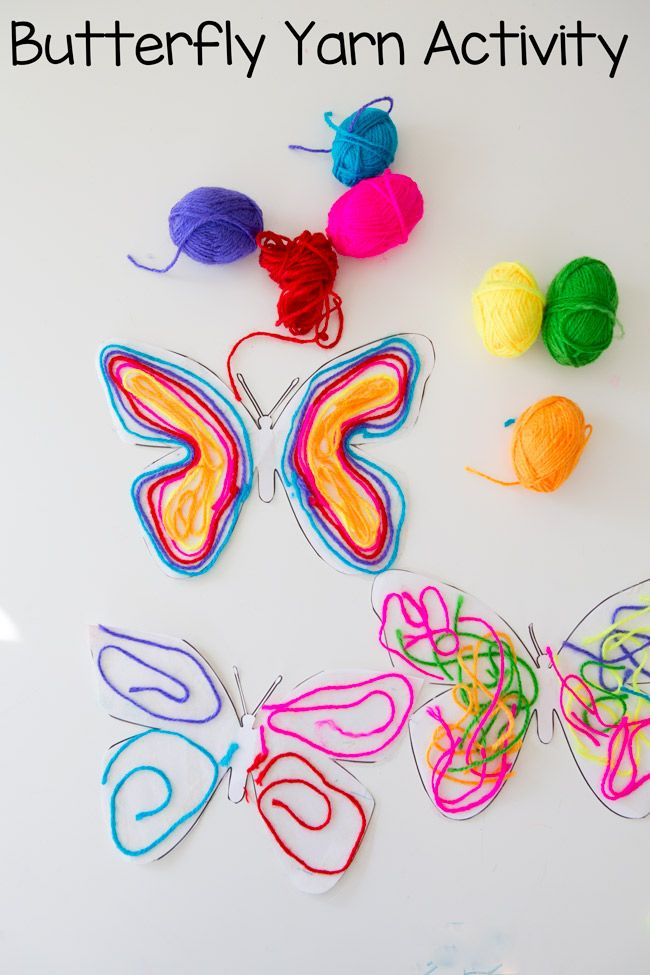 Butterfly Yarn Activity Crafts For Kids Pinterest Crafts For