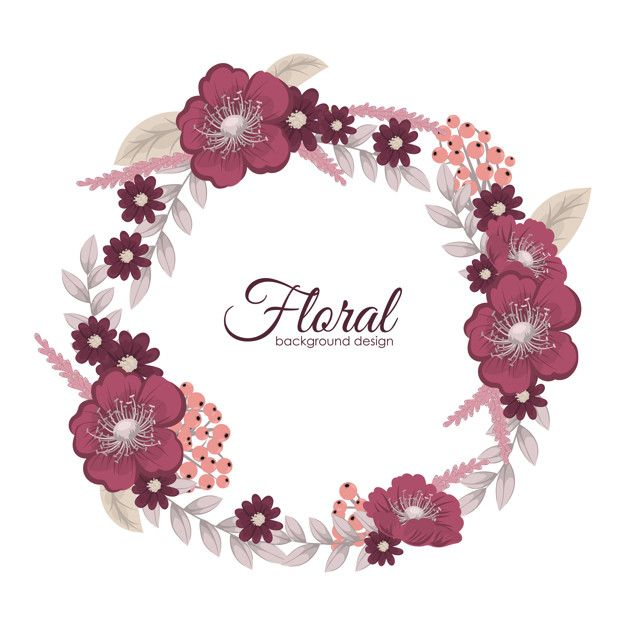 Descarga Gratis Vectores De Tarjeta De Felicitacion Con Flores