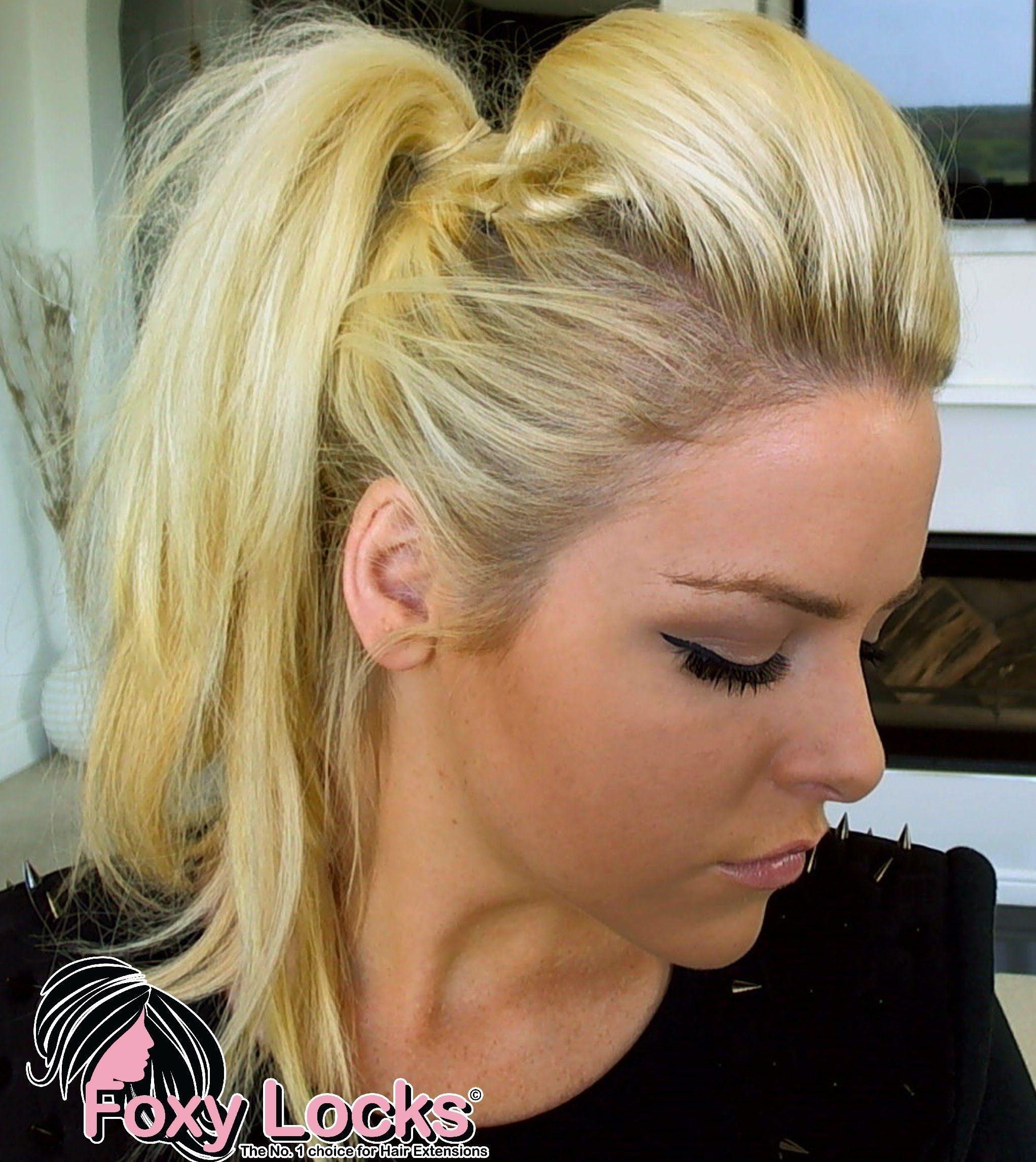 faux mohawk high ponytail up-do tutorial | hair | pinterest | faux
