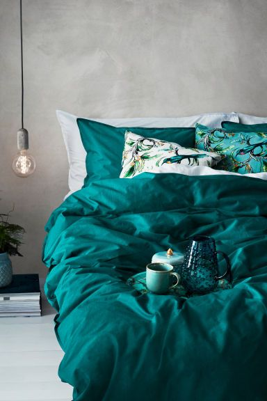 Cotton Duvet Cover Set Petrol Home All Hm Ca 1 All Things