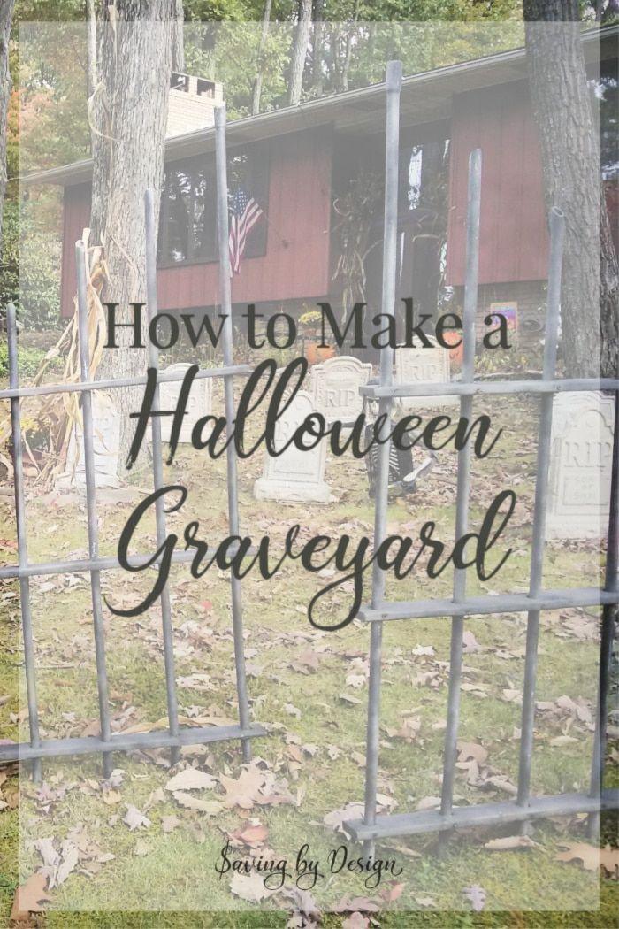 This Halloween graveyard is a must for your DIY outdoor Halloween