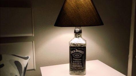 DIY Jack Daniel\u0027s Lampe selber bauen Anleitung Tutorial Deutsch