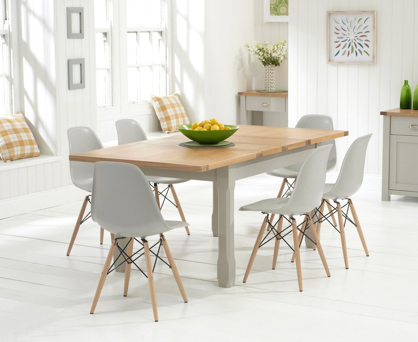 Buy the Somerset 130cm Oak and Grey Extending Dining Table with
