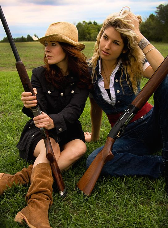 Texas Huntress and Gabi...in Austin, photo by Amanda