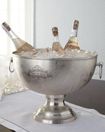 bucket ice vintage champagne bucket Elegant bucket has ice ice bucket Christmas table