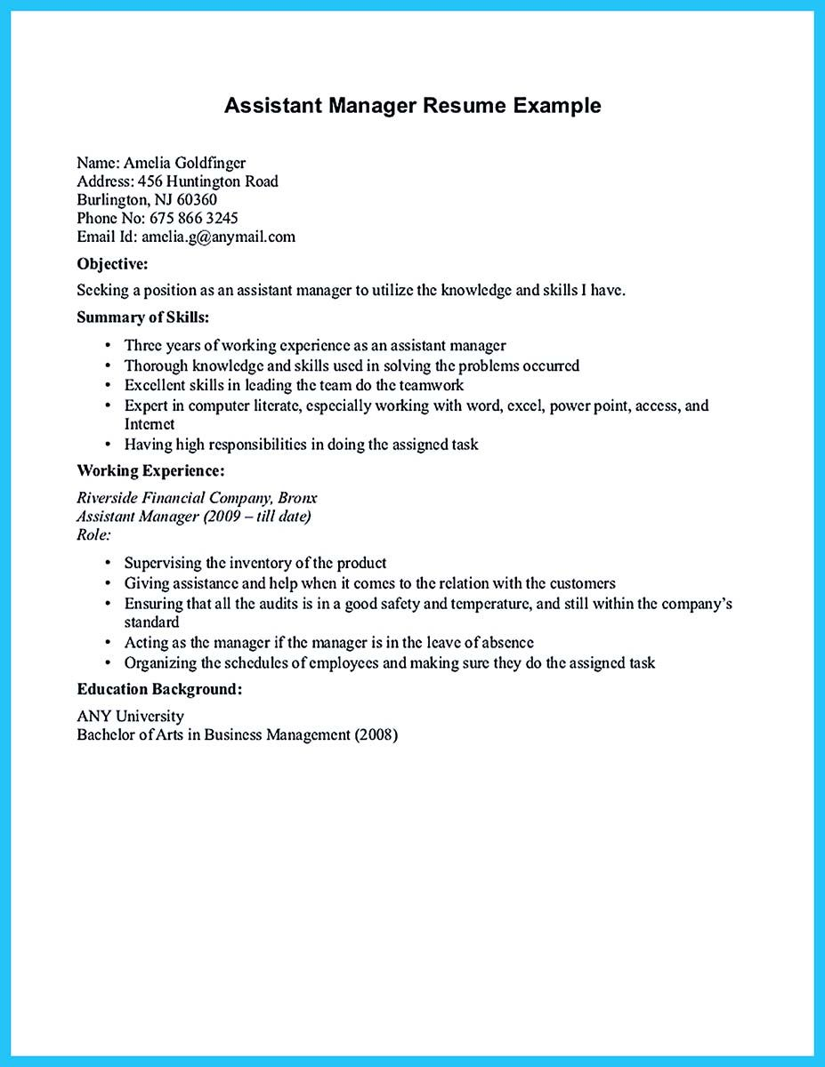 Property Management Resume There Are Several Parts To Write Your Assistant Property Manager