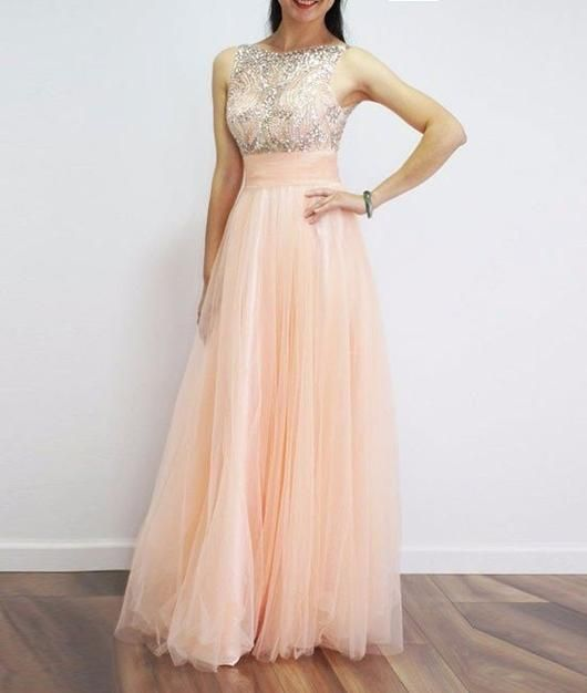 A-line Prom Dresses,Beading Prom Dress,Long Prom Dress,Cheap Prom ...