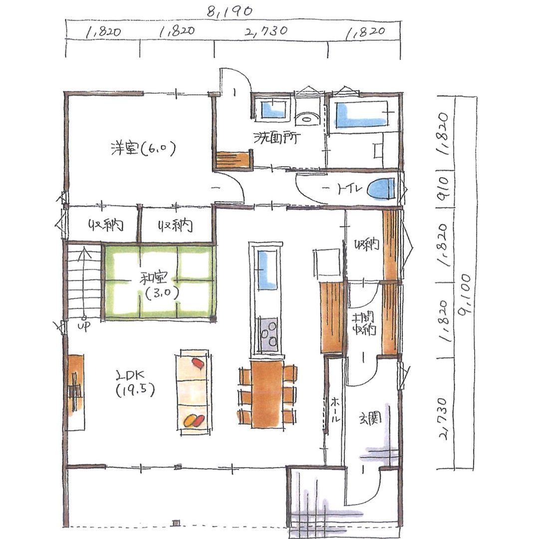 清家修吾さんはinstagramを利用しています ボツプラン132 1階の間取り は設計したことがないパターンやったので 戸惑いました 窓の配置や大きさはいい感じやと思います 土間収納もあるしキッチン裏に収納部屋もあって収納多い気がするけど ほぼ通路部分