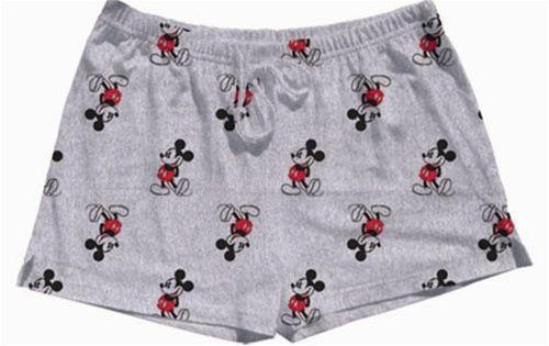 8efae68023 Disney Womens Pajama Shorts Kickback Mickey Heather Gray