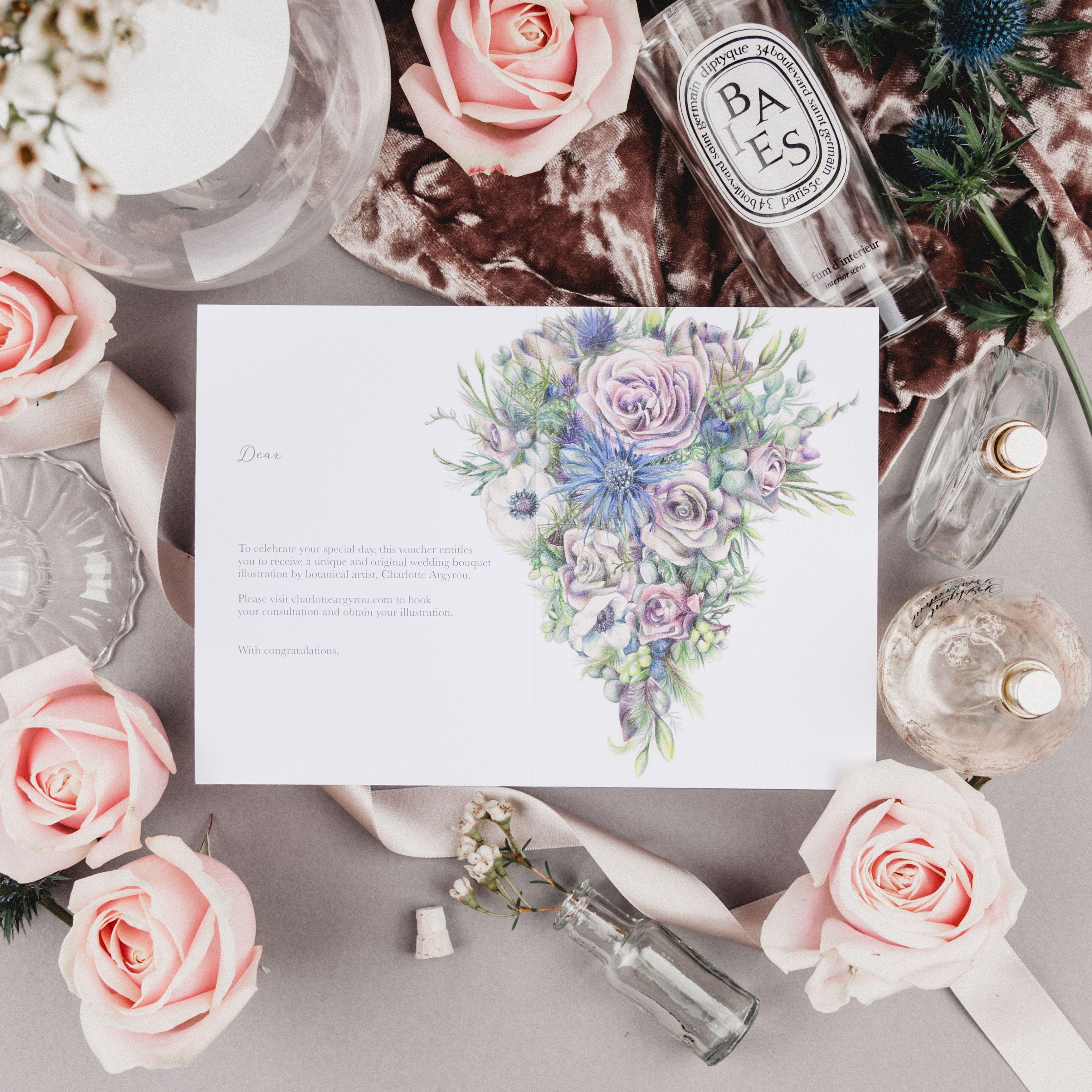Wedding Bouquet Illustration Service gift voucher by botanical ...