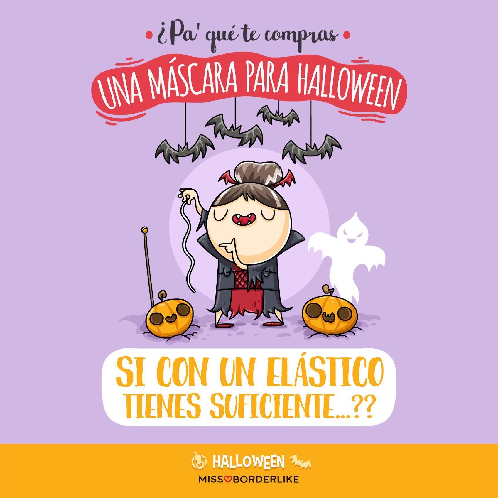 Pa Qué Te Compras Una Máscara Para Halloween Si Con Un