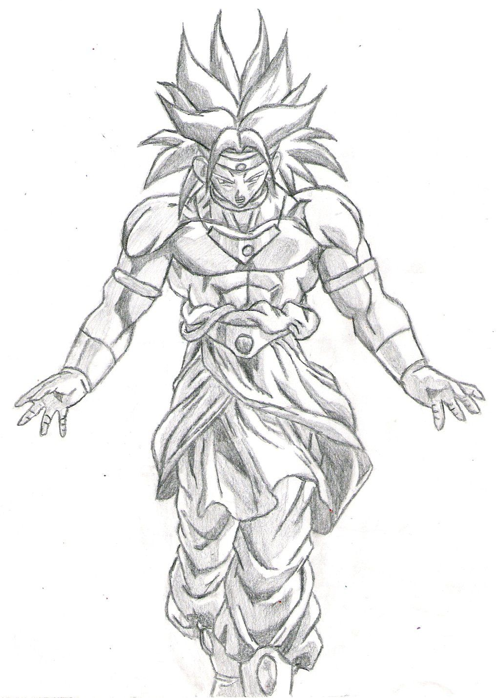 Broly Drawings Dbz Drawings Learn To Draw Sketches