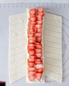 Erdbeer – Blätterteig – Strudel #recipeforpuffpastry