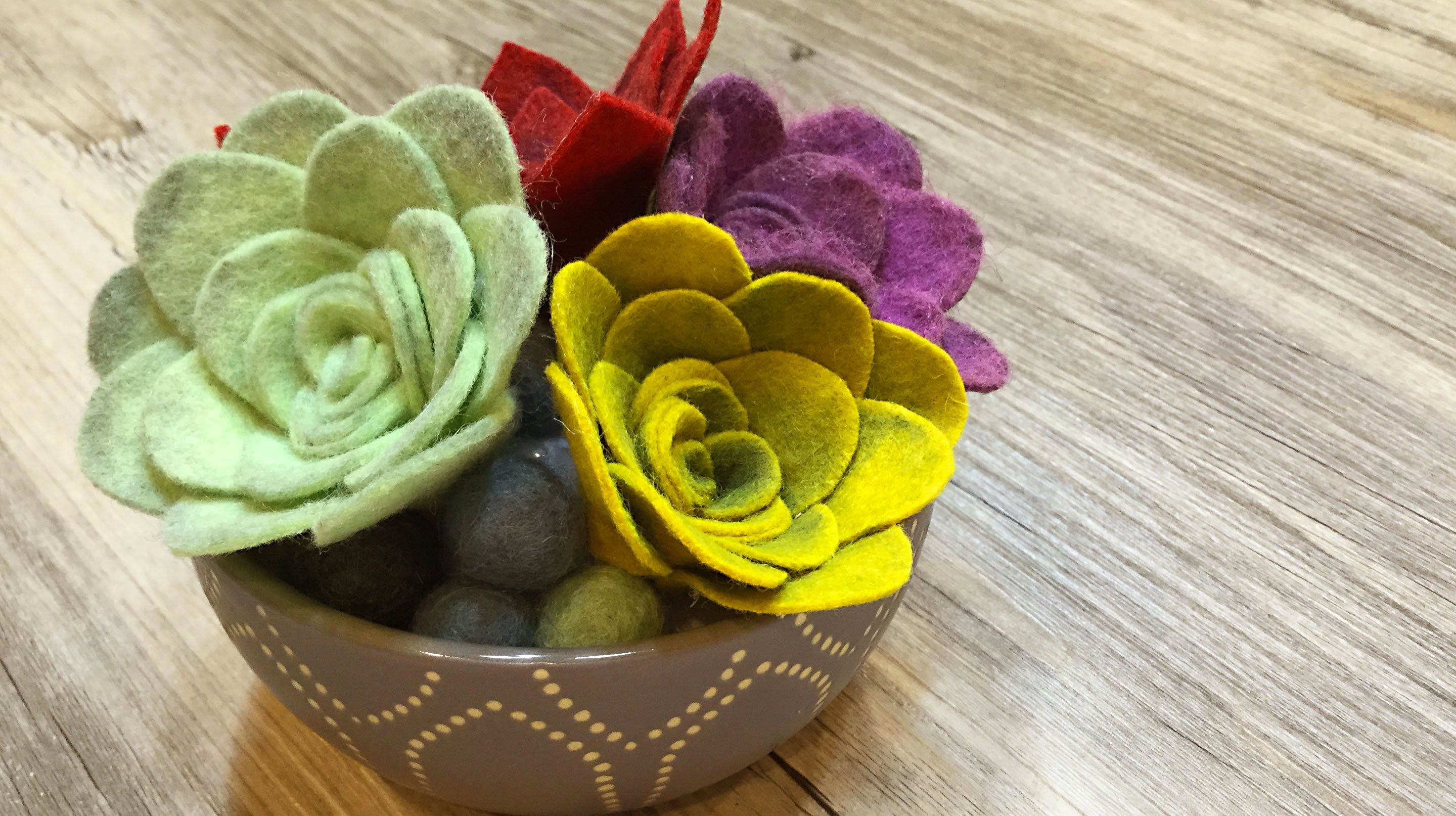Felt Succulent Floral Arrangement | Crafty - I Felt That ...