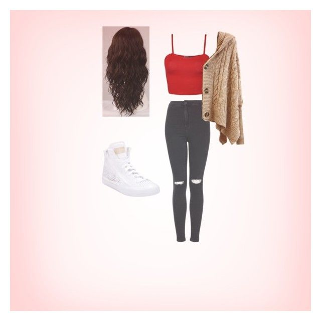 """""""Staying comfy!!"""" by jadwhi406 ❤ liked on Polyvore featuring Topshop, WigYouUp and adidas"""