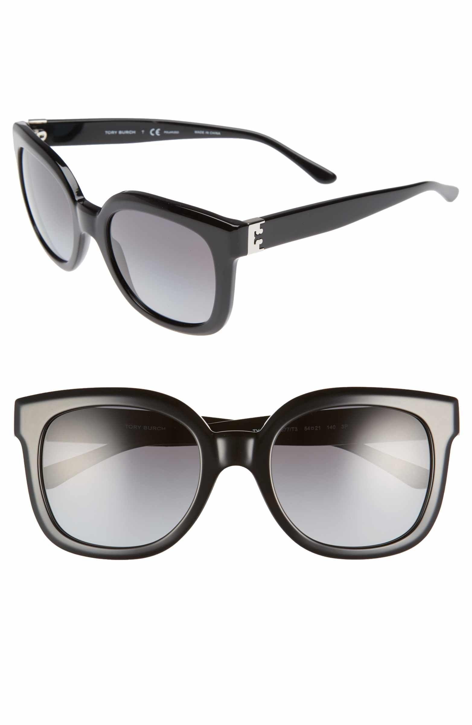 4607e92d12a85 Main Image - Tory Burch Modern-T 54mm Gradient Cat Eye Sunglasses ...