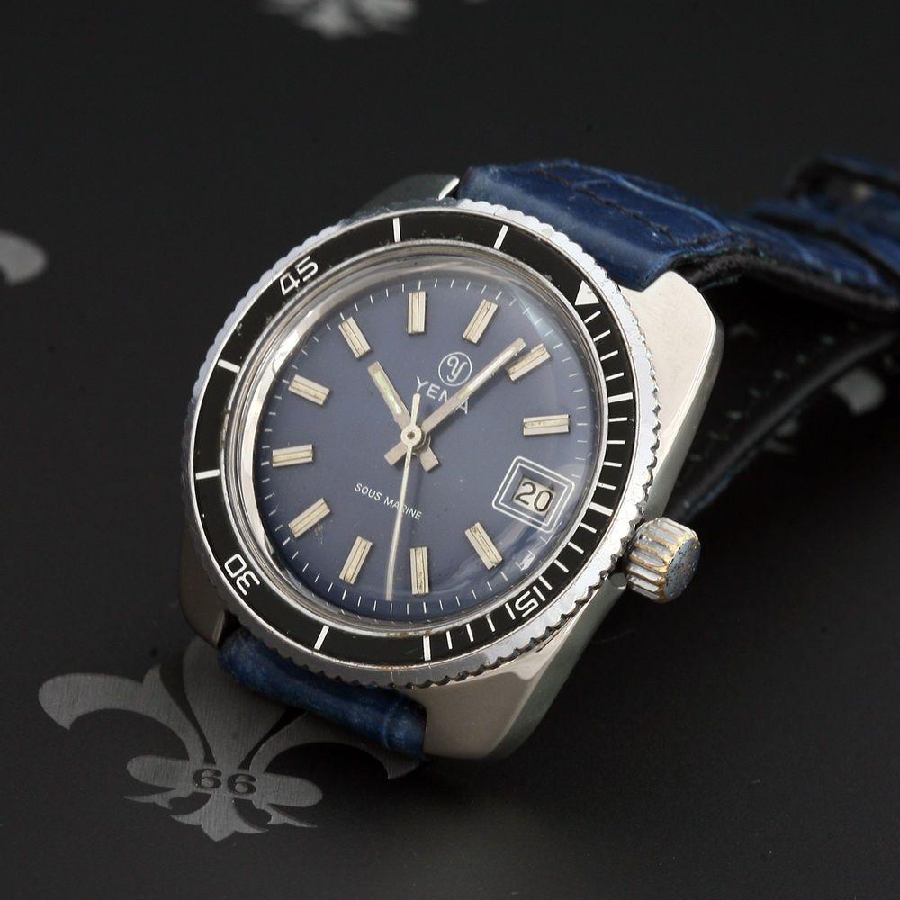us YEMA France Sous Marine Vintage Diving Watch Ref
