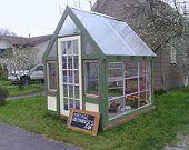 Affordable, Fabulous Greenhouse with a Vintage Storefront. $2,400.00, via Etsy.