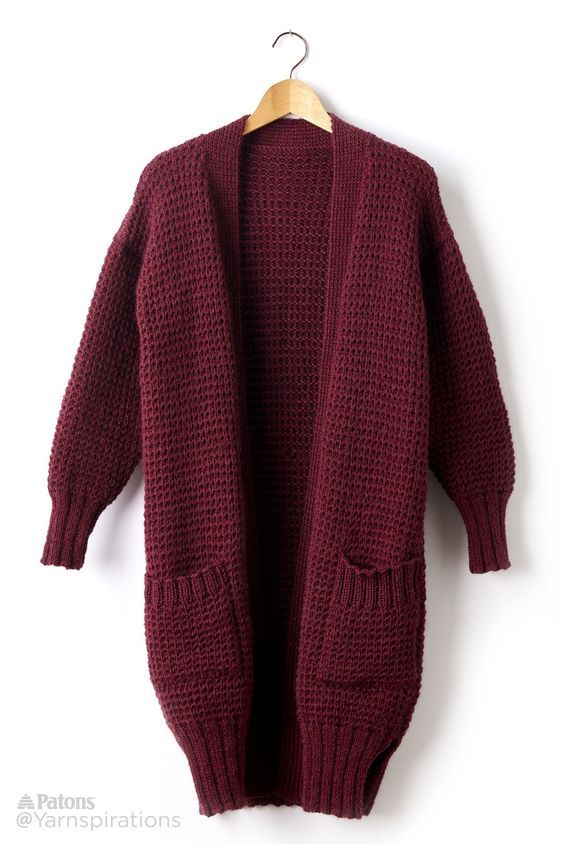 Free Pattern | Get cozy in our Long Weekend Knit Cardigan | Knitting ...