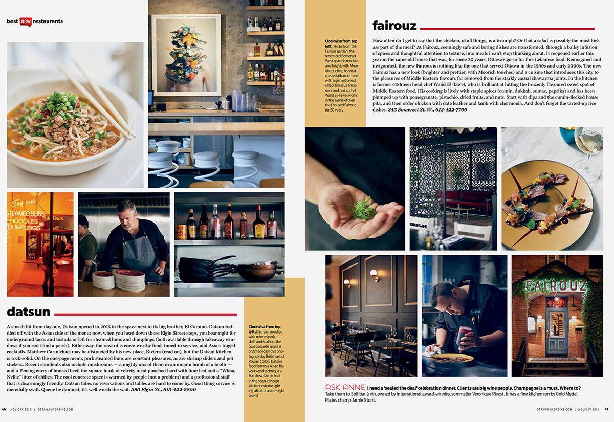 Ottawa magazine Top 10 New Restaurants on Behance Top