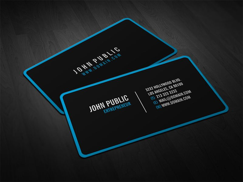Modern black rounded corners business card business business modern black rounded corners business card fbccfo Image collections
