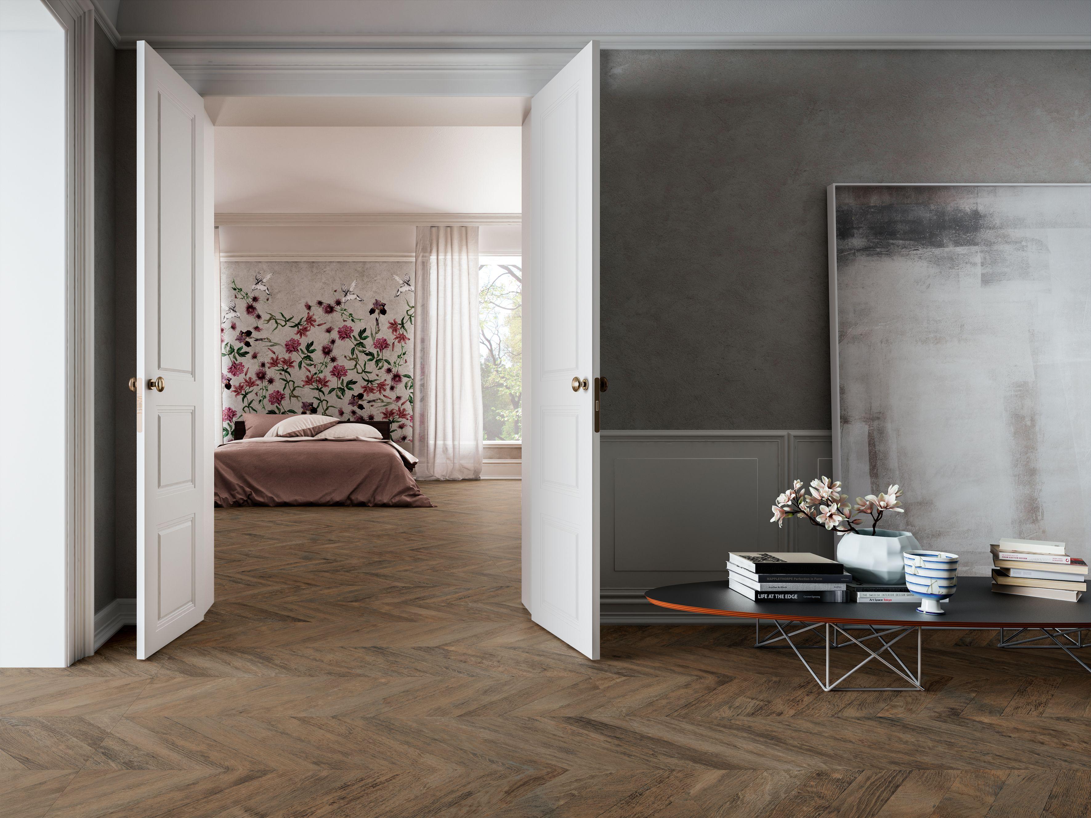 Chateau Dark Brown Wood Look Tile Tile Bedroom Bedroom Flooring