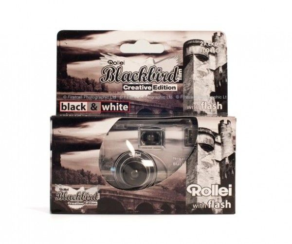 High Contrast Black White Disposable Cameras