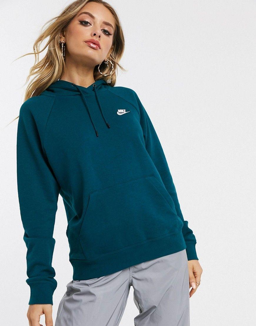 NIKE NIKE DARK BLUE ESSENTIALS HOODIE. #nike #cloth | Nike ...