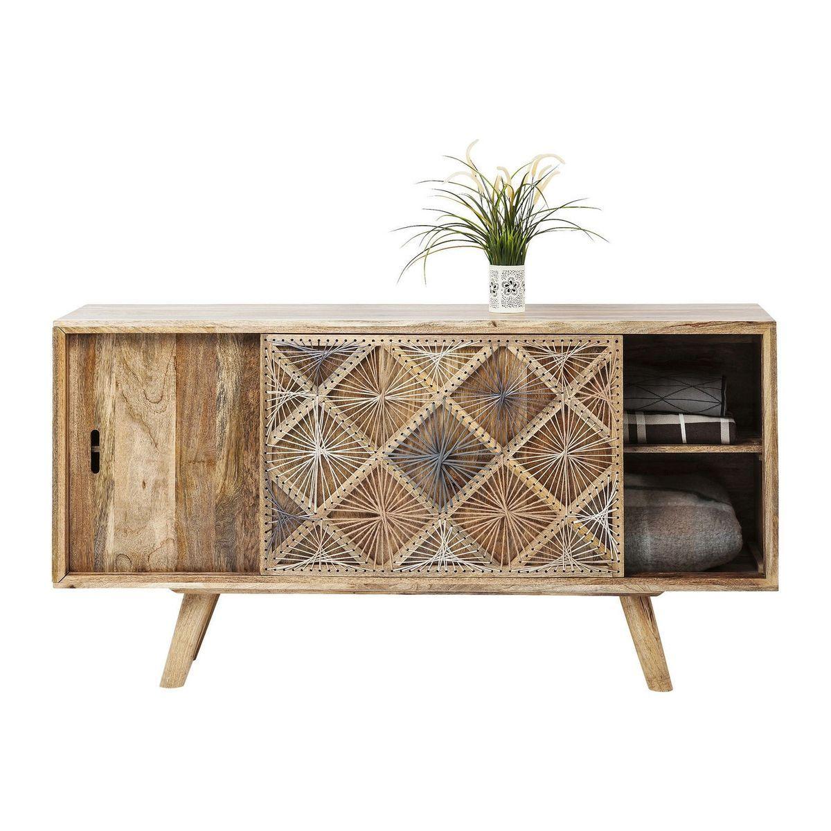 Buffet Coachella Nature Kare Design Bois Fonce Kare Design La Redoute Mobilier Maison Vaisselier Deco Salon