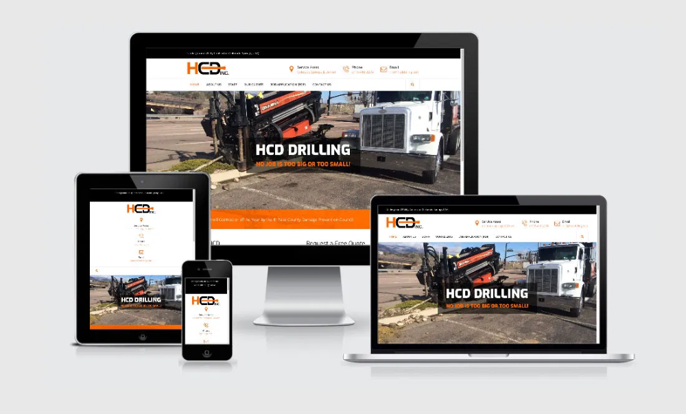 Hcd Drilling In 2020 With Images Portfolio Web Design Web Design Marketing Web Design