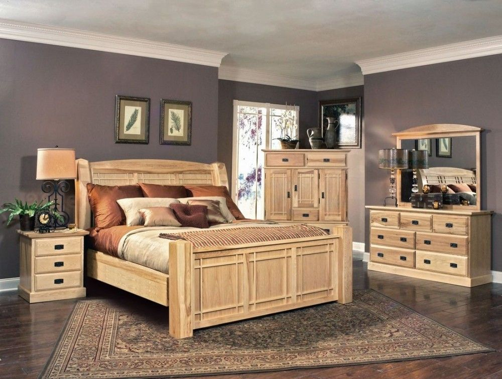 A-America Amish Highlands Arch Panel Bedroom Set in Natural A