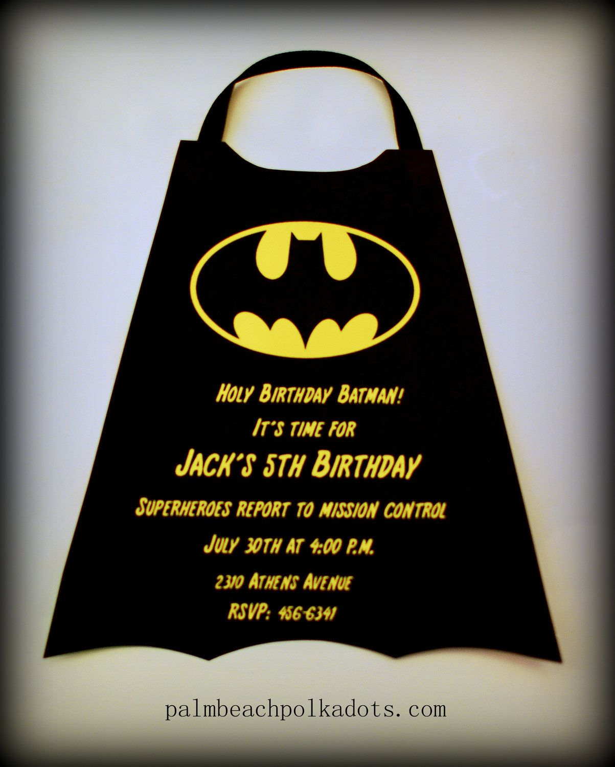 Superheroes Batman Birthday Invitation Super Eroes