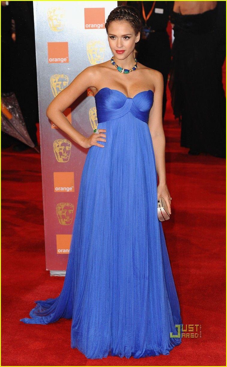 Versace wedding dress  Jessica Alba BAFTAs  Red Carpet  jessica alba baftas red