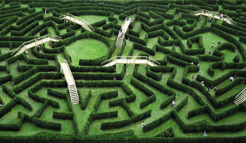Labyrinthe de thoiry yvelines france labyrinthes for Parc animaux yvelines