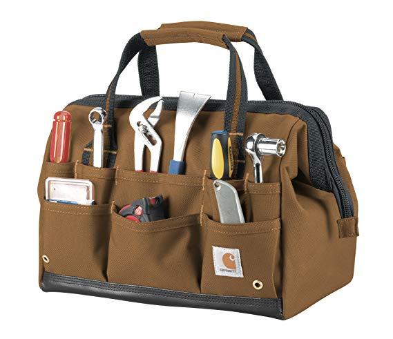 Amazon Com Carhartt Legacy Tool Bag 14 Inch Carhartt Brown Sports Outdoors Best Tool Bag Electrician Tool Bag Tool Bag