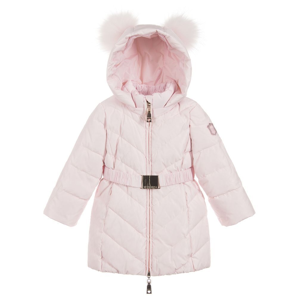 7a7a9aacb Girls Pink Down Padded Coat