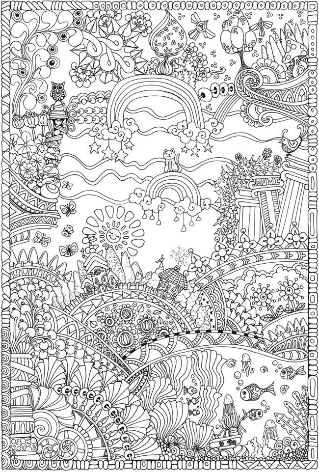 Creative Haven Insanely Intricate Entangled Landscapes Coloring Book Dover Publications