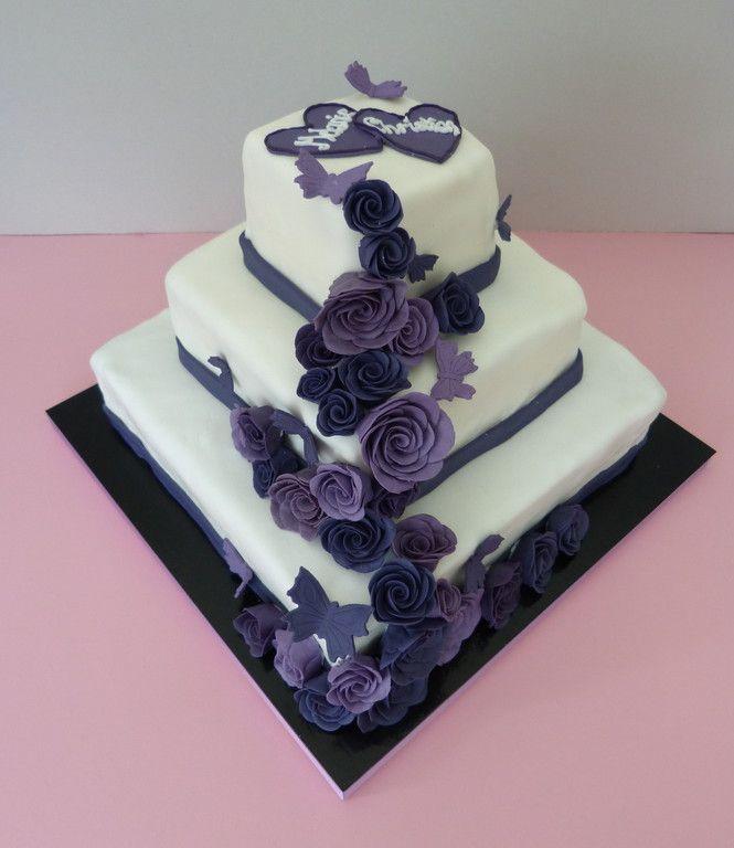 Hochzeitstorte lila 3 hochzeiten pinterest lila hochzeitstorten hochzeitstorten und lila - Hochzeitstorte dekorieren ...