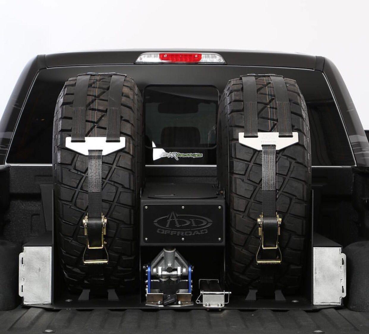 Tire storage Truck accessories, Truck tyres, Custom