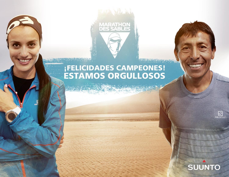 ¡Felicidades Isis Breiter y Ricardo Mejia por haber completado esta travesía en el desierto y sus más de 250 kilómetros durante el Marathon Des Sables!