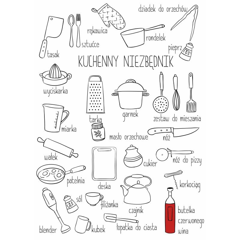 Niezbednik Pani Domu Plakat Na Sciane Plakat Plakaty Kuchnia Dokuchni Design Wystroj Poster Art Bullet Journal Poster