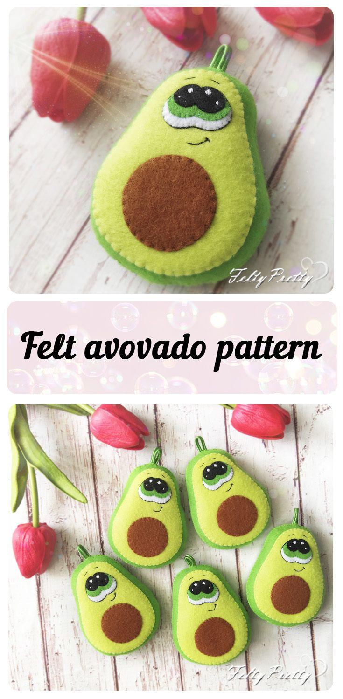 Avocado sewing pattern PDF Felt avocado Play food easy