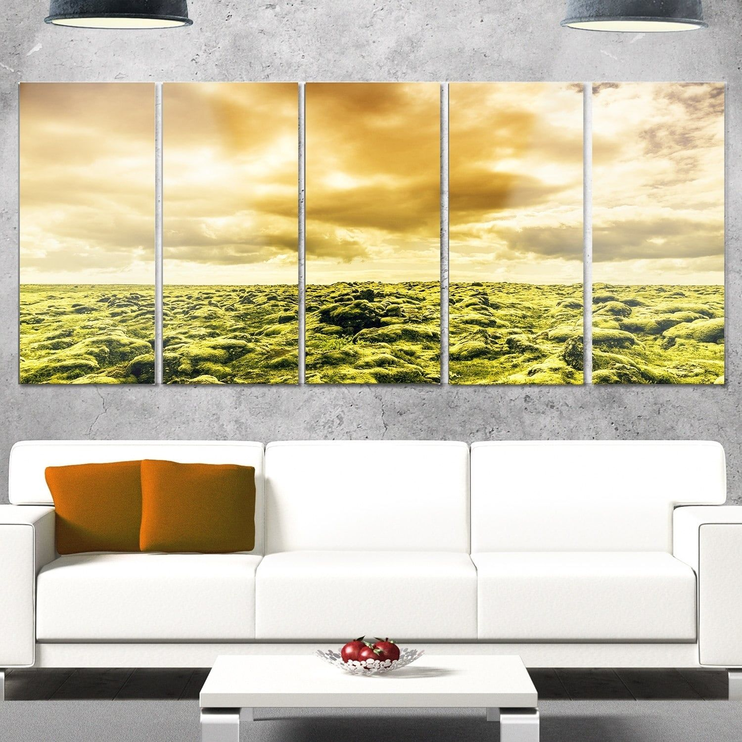 Designart \'Beautiful View of Sky and Moss\' Landscape Glossy Metal ...