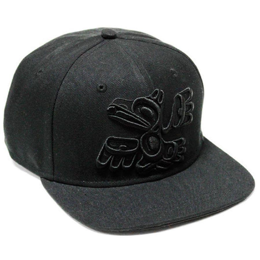 Raven Snapback Hat by Allan Weir, Haida - Designed in Canada