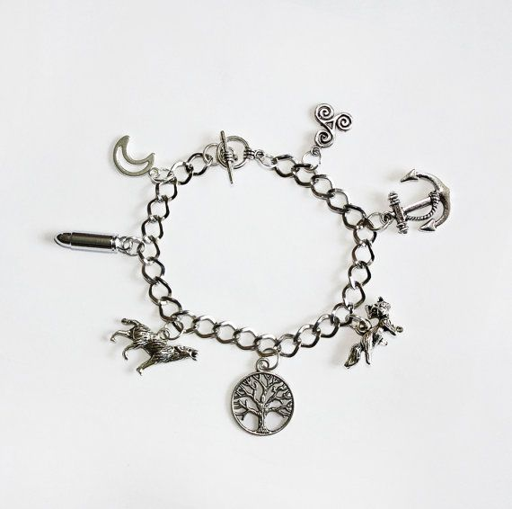 Wolf Charm Bracelet: Teen Wolf Inspired Charm Bracelet
