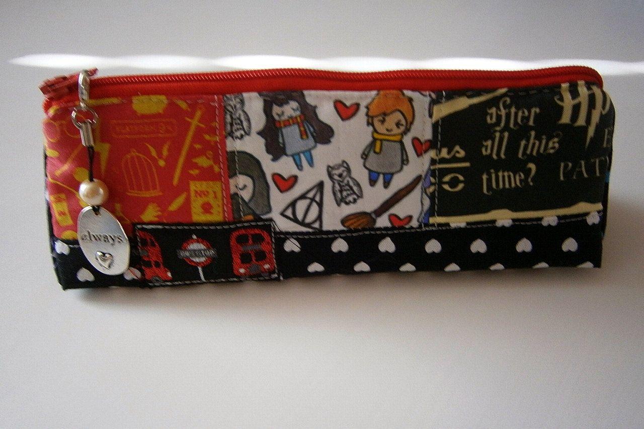 Hp case pencil case pencil case gray symbols friends pens