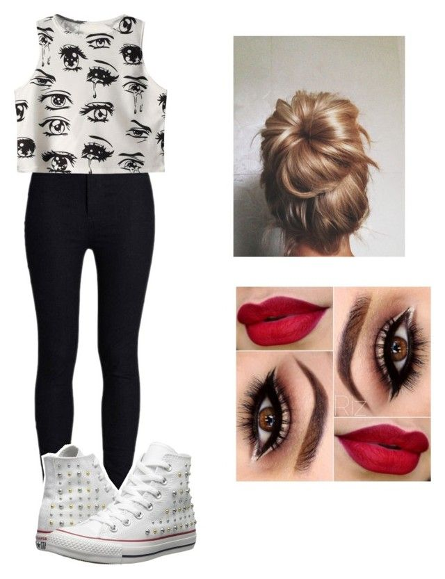 """""""❤️❤️❤️"""" by victoriamajors ❤ liked on Polyvore featuring Rodarte, Chicnova Fashion and Converse"""