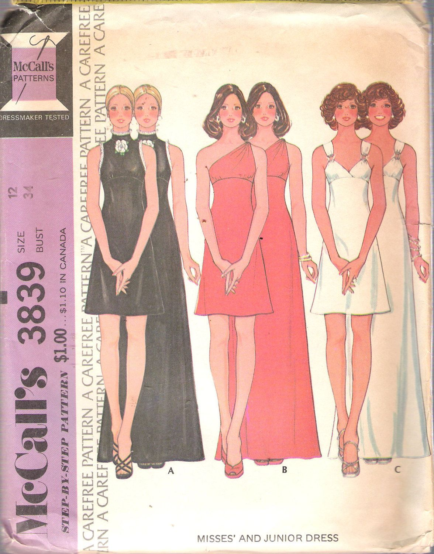 Vintage mccallus retro midi and maxi dress three styles