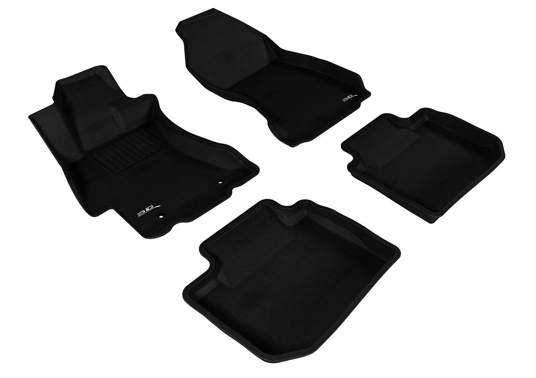 Black Kagu Rubber 3D MAXpider Complete Set Custom Fit All-Weather Floor Mat for Select Hyundai Tucson Models